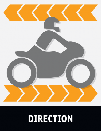 the direction is one of many factors that show dguard if the motorcycle driver had an accident