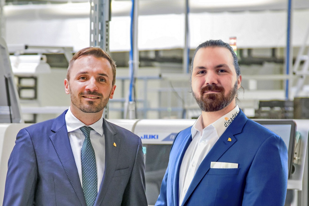 digades managing directors Sascha and Tim Berger in their production centre in Germany